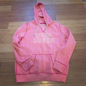 :under armour: pink hoodie